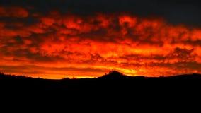 Céu ardente Fotografia de Stock