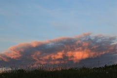 Céu ardente Fotografia de Stock Royalty Free