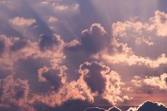 Céu ardente do fulgor do por do sol na manhã Imagem de Stock Royalty Free