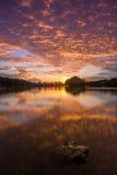 Céu ardente em putrajaya Imagens de Stock Royalty Free