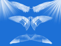 Céu azul. ilustração do vetor