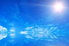 Céu azul abstrato ilustração stock