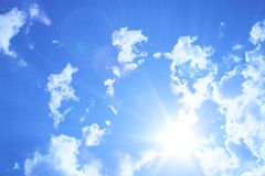 Céu azul & nuvens Foto de Stock Royalty Free