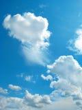 Céu azul brilhante bonito Foto de Stock