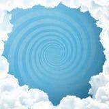 Céu azul com espiral Imagens de Stock Royalty Free