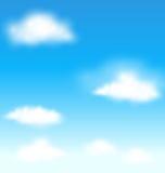 Céu azul com fundo das nuvens Fotografia de Stock