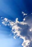 Céu azul com luz solar Foto de Stock Royalty Free