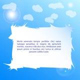 Céu azul da bandeira da promoção Imagem de Stock Royalty Free