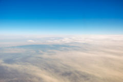 Céu azul da nuvem fotografia de stock