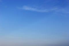 Céu azul da nuvem macia Foto de Stock Royalty Free