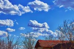 Céu azul da paisagem Imagens de Stock Royalty Free