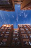 Céu azul das ruas Foto de Stock Royalty Free