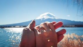 Céu azul de Fuji Fotos de Stock