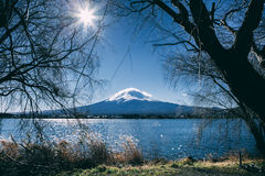 Céu azul de Fuji Fotografia de Stock Royalty Free