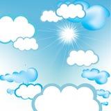 Céu azul desobstruído Ilustração do Vetor