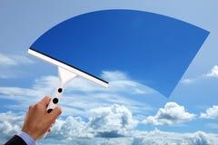 Céu azul desobstruído Fotografia de Stock Royalty Free