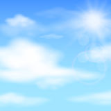 Céu azul do verão, vetor Imagem de Stock