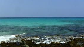 Céu azul e água de Kona Havaí do oceano e da costa video estoque