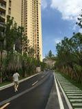 Céu azul e edifícios Imagem de Stock Royalty Free
