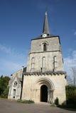Céu azul e a igreja fotografia de stock
