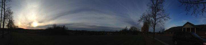 Céu azul e nuvens Fotografia de Stock