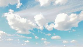 Céu azul nebuloso imagens de stock royalty free
