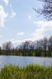 Céu azul perto de Chrudim Fotos de Stock Royalty Free