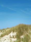 Céu azul sobre dunas foto de stock royalty free