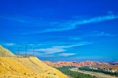 Céu azul sobre a paisagem de Omã Foto de Stock Royalty Free