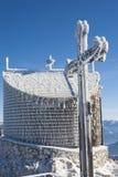 Céu azul transversal de Baviera da cimeira Imagens de Stock