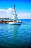 Céu, barco Fotos de Stock Royalty Free