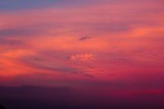 Céu bonito com nuvens Fotos de Stock