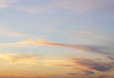 Céu bonito da noite Foto de Stock