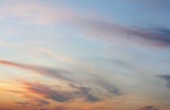 Céu bonito da noite Fotos de Stock