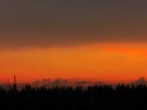 Céu bonito da noite Fotografia de Stock