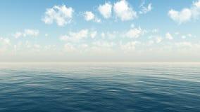Céu bonito do mar e das nuvens Imagens de Stock Royalty Free