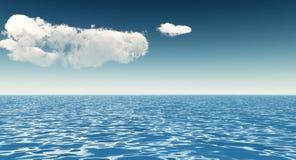 Céu bonito do mar e das nuvens Fotografia de Stock Royalty Free