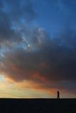 Céu bonito do por do sol Fotos de Stock Royalty Free