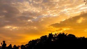 Céu bonito do por do sol Foto de Stock Royalty Free