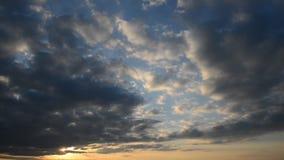 Céu bonito do por do sol filme