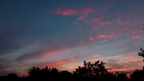 Céu bonito na noite foto de stock