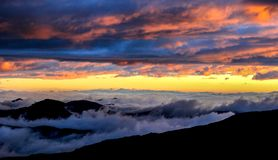 Céu celestial na parte superior do vulcão Rucu Pichincha Imagem de Stock Royalty Free