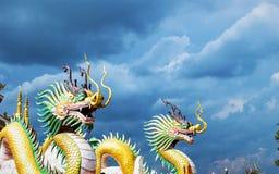 Céu chinês do dragão fotografia de stock
