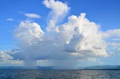 Céu chuvoso imagem de stock