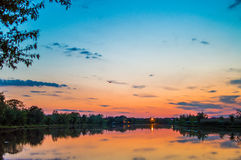 Céu colorido Fotografia de Stock