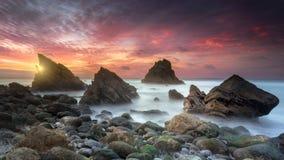 Céu colorido Foto de Stock Royalty Free