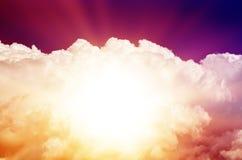 Céu colorido bonito foto de stock