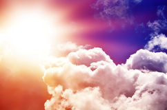 Céu colorido bonito imagens de stock