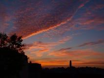 Céu colorido do lenço Imagens de Stock Royalty Free