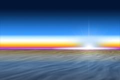 Céu colorido do setset Fotografia de Stock